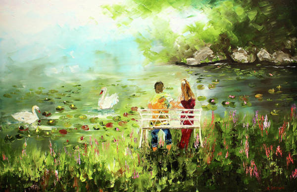 Painting - Swans by Kevin Brown
