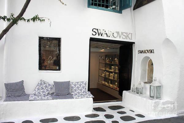 Photograph - Swarovski Store Greece by Donna L Munro
