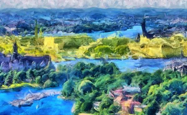 Digital Art - Sweden Colors by Caito Junqueira