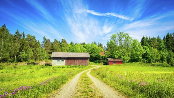 Photograph - Swedish Barn by James Billings