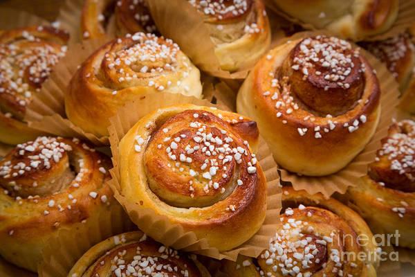 Scandinavian Photograph - Swedish Cinnamon Rolls by Inge Johnsson
