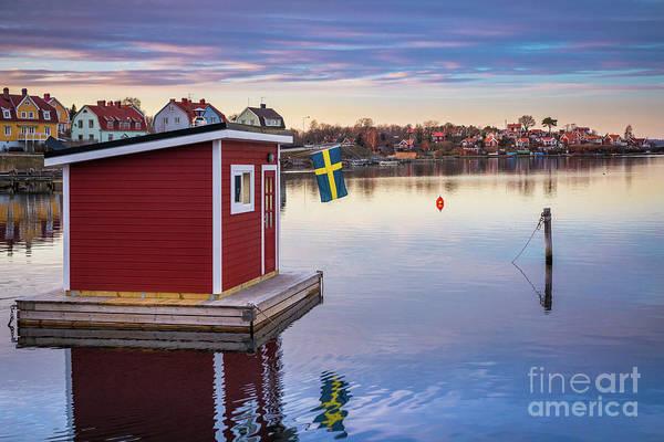 Sauna Wall Art - Photograph - Swedish Floating Sauna by Inge Johnsson