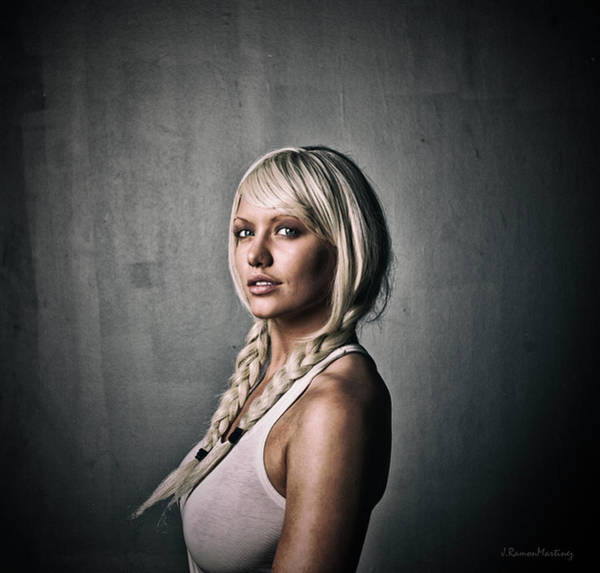 Wall Art - Photograph - Swedish Woman Portrait by Ramon Martinez