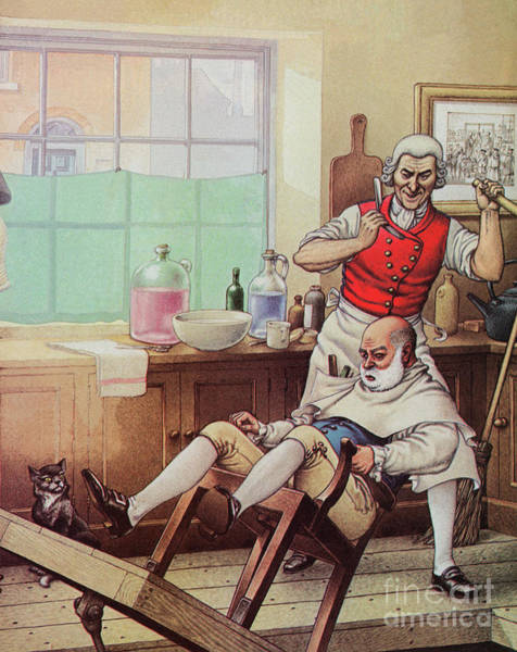 The Demon Wall Art - Painting - Sweeney Todd, The Demon Barber by Pat Nicolle