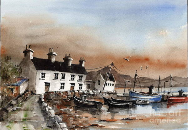 Painting - Sweeney,s Pier, Coraun, Mayo.. X116 by Val Byrne