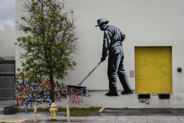 Wynwood Photograph - Sweeping Graffiti by Mike Burgquist
