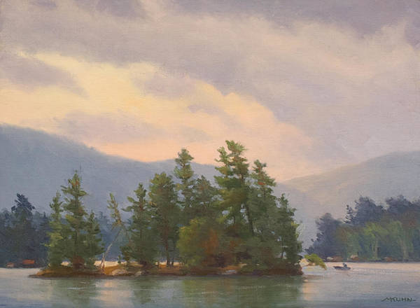 Adirondack Mountains Painting - Sweet Briar Island by Marianne Kuhn