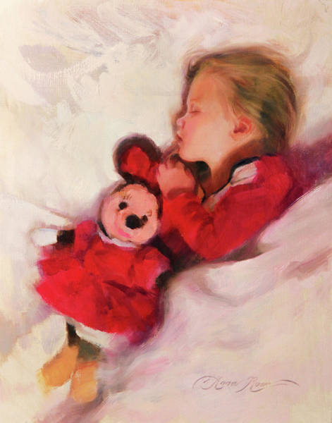 Toddler Painting - Sweet Dreams by Anna Rose Bain