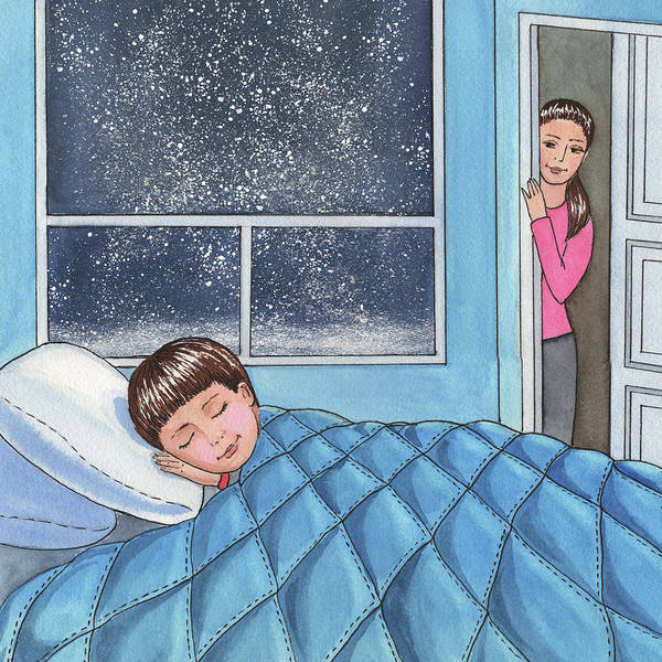 Painting - Sweet Dreams Little Boy by Irina Sztukowski