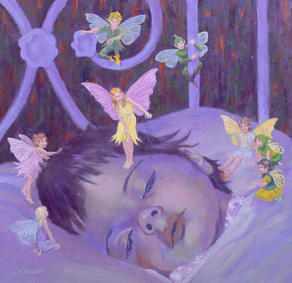 Toddler Painting - Sweet Dreams by William Ireland