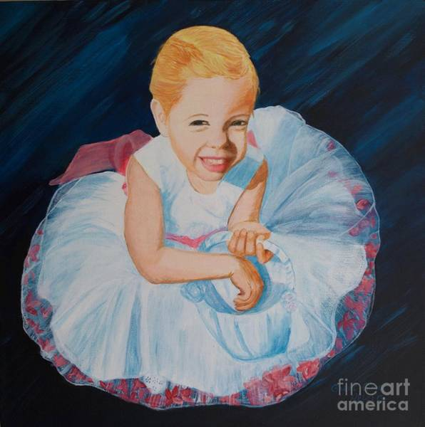 Painting - Sweet Flower Girl by Alicia Fowler