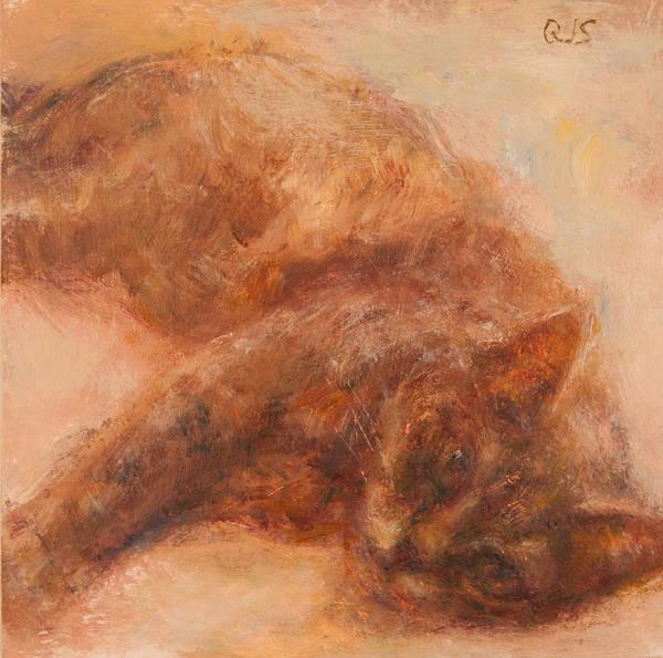 Painting - Sweet Friend, Original Feline Pet Portrait by Quin Sweetman