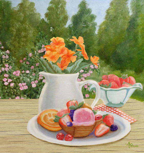 Painting - Sweet Garden by Angeles M Pomata
