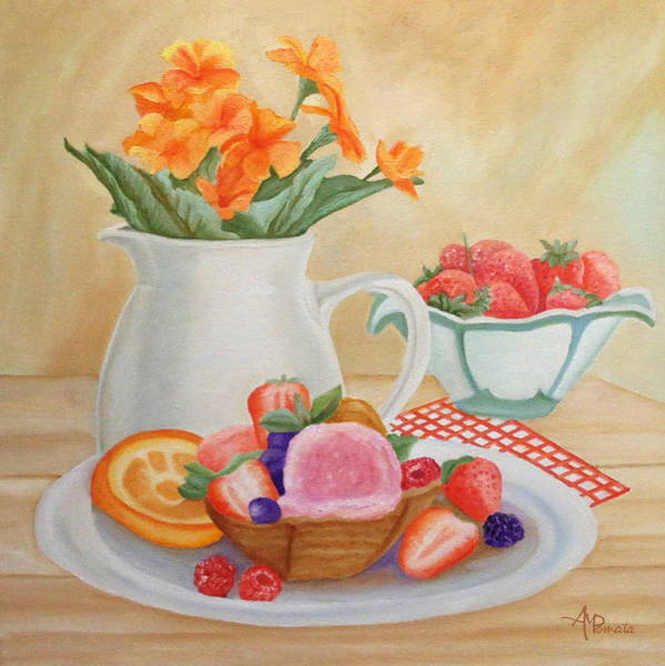 Painting - Sweet Home by Angeles M Pomata