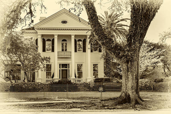 Charles Mansion Photograph - Sweet Home New Orleans 6 - Sepia by Steve Harrington