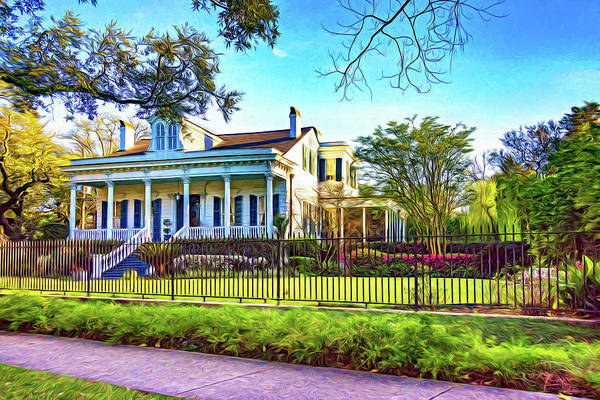 Charles Mansion Photograph - Sweet Home New Orleans - Spring Garden 2 - Paint by Steve Harrington