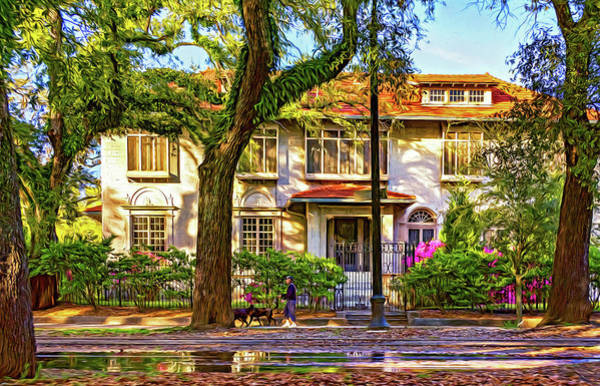 Charles Mansion Photograph - Sweet Home New Orleans - Walking The Dogs - Paint by Steve Harrington