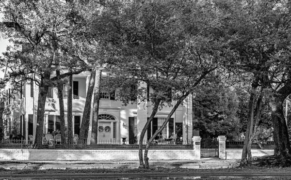 Charles Mansion Photograph - Sweet Home New Orleans - Watching The World Go By - Bw by Steve Harrington