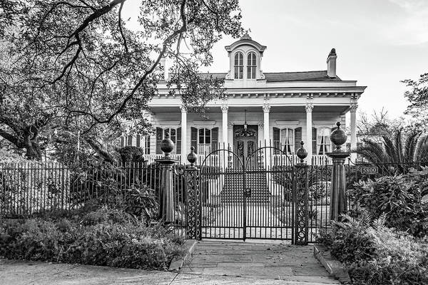 Charles Mansion Photograph - Sweet Home New Orleans - Wrought Iron Bw by Steve Harrington