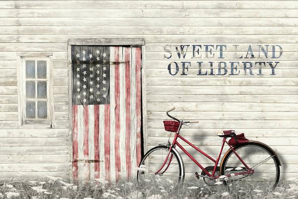 Faded Mixed Media - Sweet Land Of Liberty by Lori Deiter