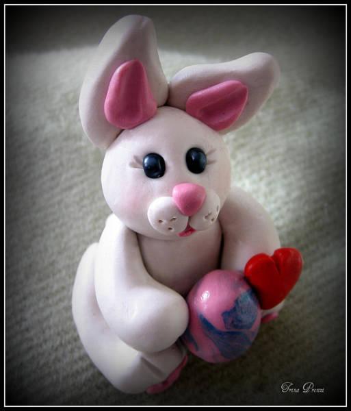 Polymer Clay Photograph - Sweet Little Bunny by Trina Prenzi