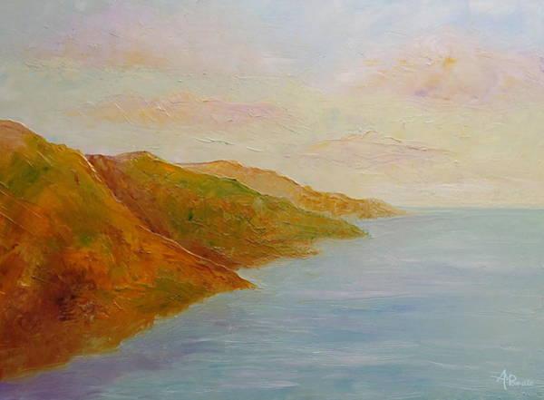 Painting - Sweet Misty Sundown by Angeles M Pomata