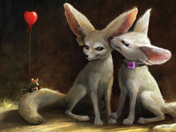 Foxes Digital Art - Sweet Nothings by Steve Goad