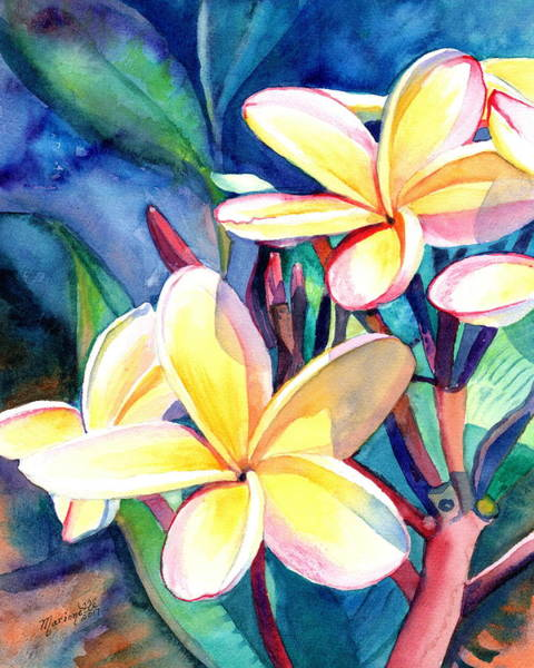 Painting - Sweet Plumeria 4 by Marionette Taboniar