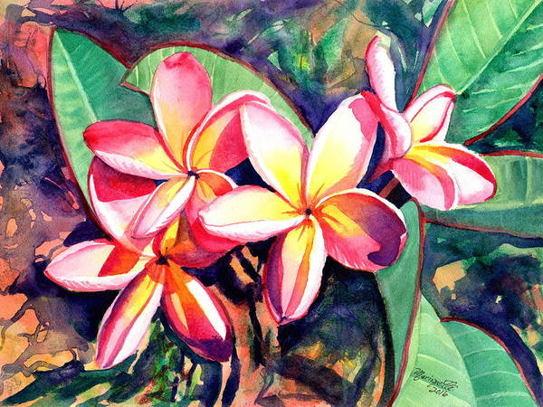 Aloha Painting - Sweet Plumeria by Marionette Taboniar