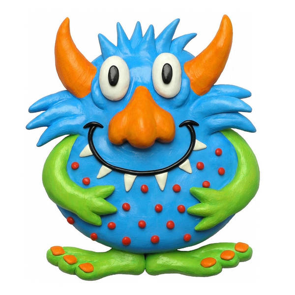 Troll Mixed Media - Sweet Spotted Monster by Amy Vangsgard