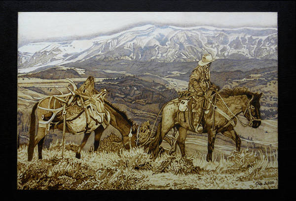 Pyrography Wall Art - Pyrography - Sweet Success by Chip Jones