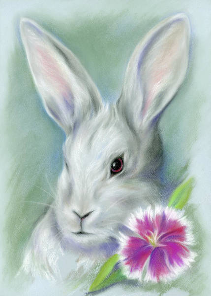 Pastel - Sweet William Bunny Rabbit by MM Anderson