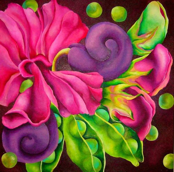 Wall Art - Painting - Sweetest Pea by Elizabeth Elequin