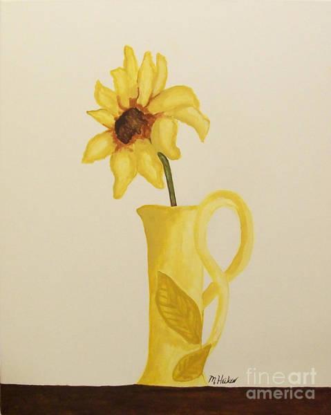 Hand Made Painting - Sweetest Sunflower by Marsha Heiken