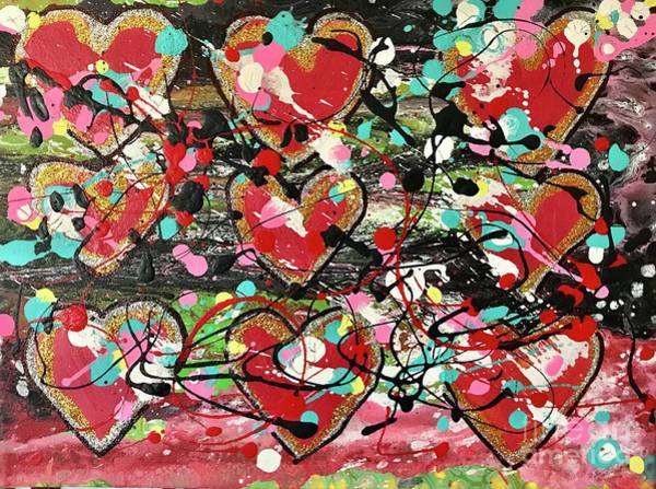 Painting - Sweethearts by Sherry Harradence