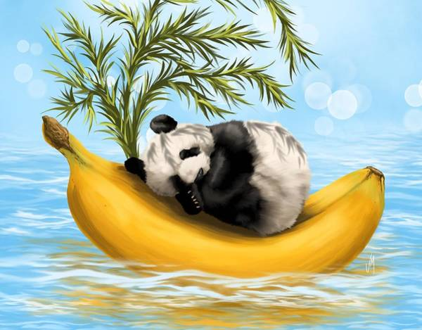 Bamboo Painting - Sweetly Cradled by Veronica Minozzi
