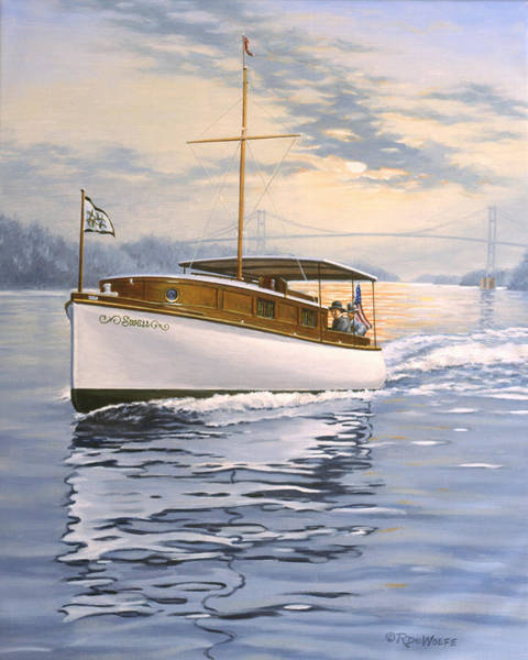 Cruiser Painting - Swell by Richard De Wolfe