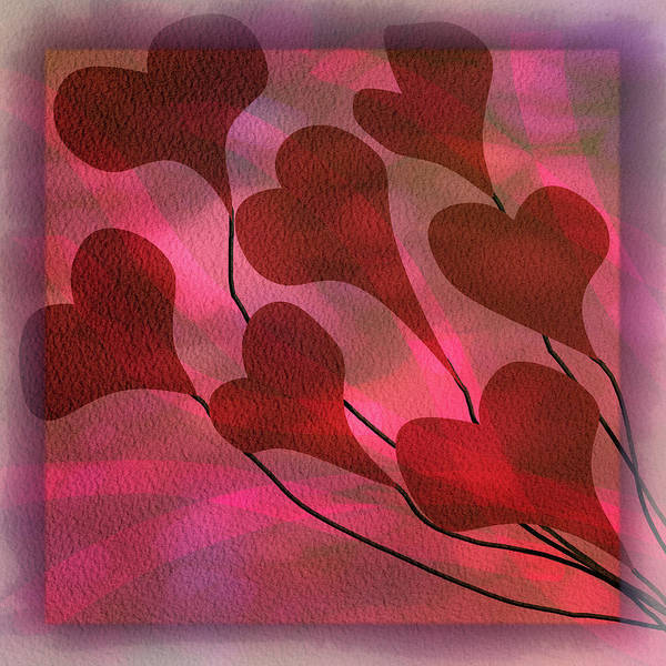 Sweetheart Digital Art - Swept Away In Your Love Watercolor Painting by Debra and Dave Vanderlaan