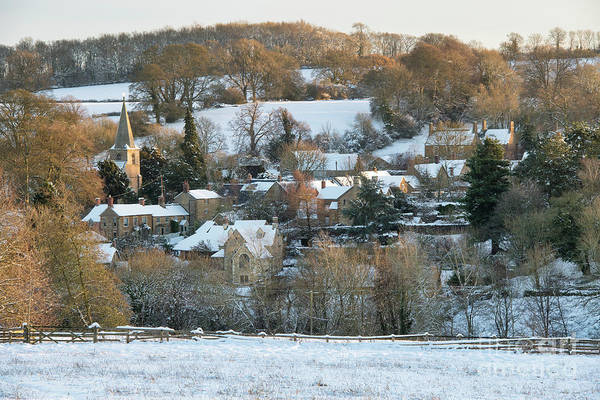 Photograph - Swerford Village In The Winter Snow by Tim Gainey