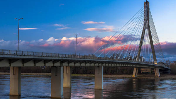 Photograph - Swietokrzyski Bridge In Warsaw by Julis Simo