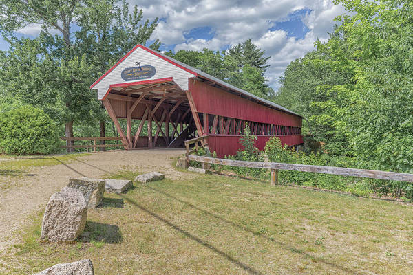 Photograph - Swift River Covered Bridge Conway New Hampshire by Brian MacLean