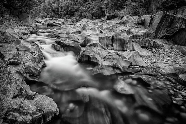 Wall Art - Photograph - Swift River In Coos Canyon In Black And White by Rick Berk