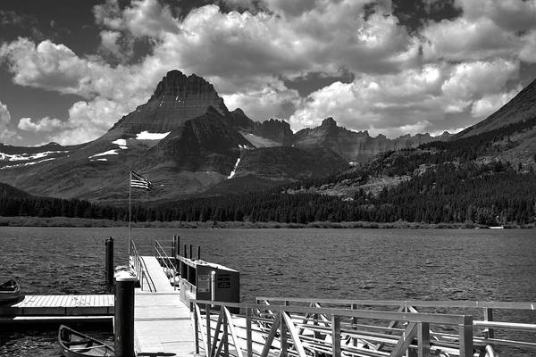 Photograph - Swiftcurrent Lake Boat Dock by Lee Santa