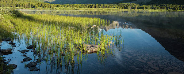 Wall Art - Photograph - Swiftcurrent Lake Glacier National Park Panorama by Steve Gadomski