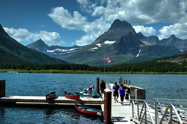 Photograph - Swiftcurrent Lake by Lee Santa