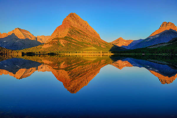 Photograph - Swiftcurrent Morning Reflections by Greg Norrell