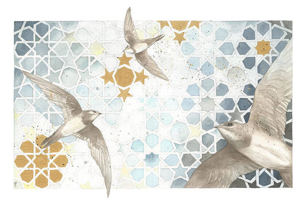 Painting - Swifts Of Cihangir by Johanna Pieterman