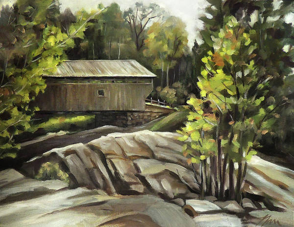 Painting - Swiftwater Covered Bridge by Nancy Griswold