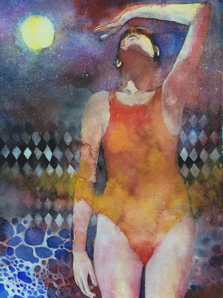 Swimming Painting - Swimmer by Alessandro Andreuccetti