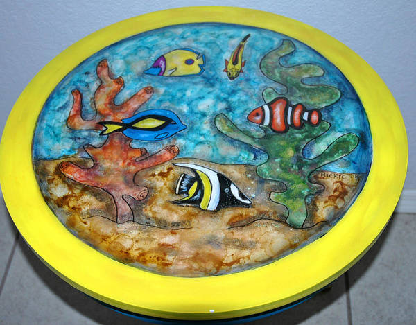 Wall Art - Mixed Media - Swimmin With The Fishes by Mickie Boothroyd